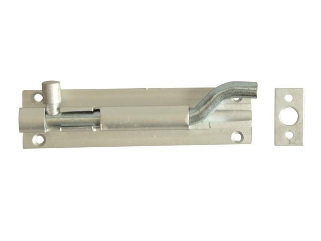 Door Bolt Necked - Aluminium 100mm (4in)