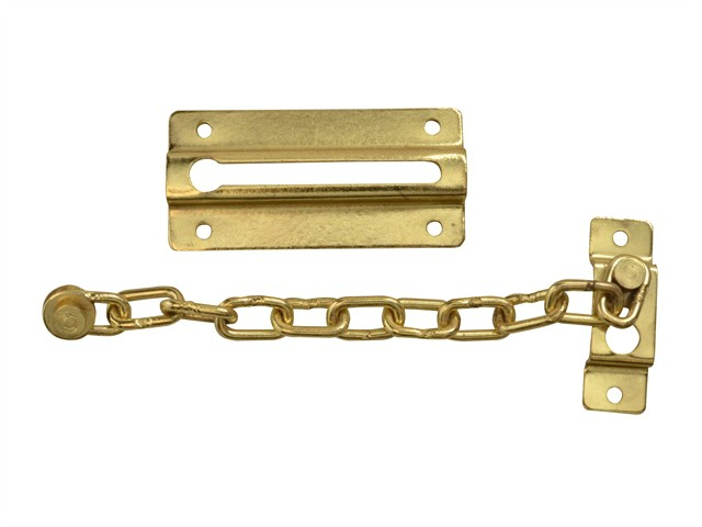 Door Chain - Brass Finish Plated 80mm