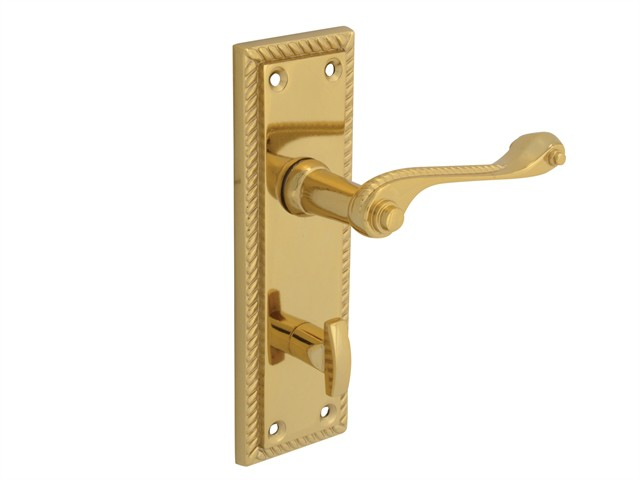Backplate Handle Bathroom - Georgian Brass 152mm