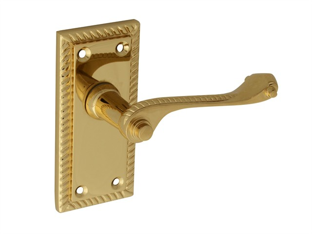 Backplate Handle Latch - Georgian Brass 104mm