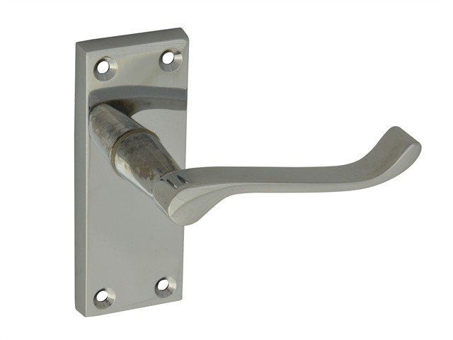 Backplate Handle Latch - Scroll Chrome Finish 102mm