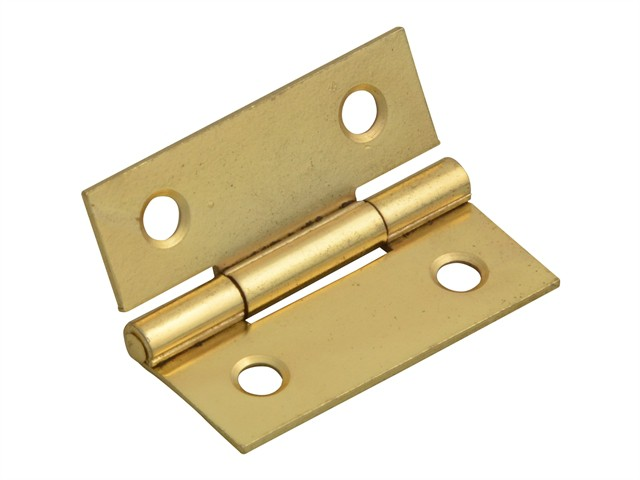 Butt Hinge Brass Finish 40mm (1.5in) Pack of 2