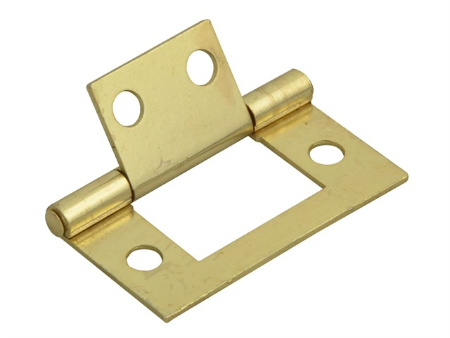 Flush Hinge Brass Finish 40mm (1.5in) Pack of 2