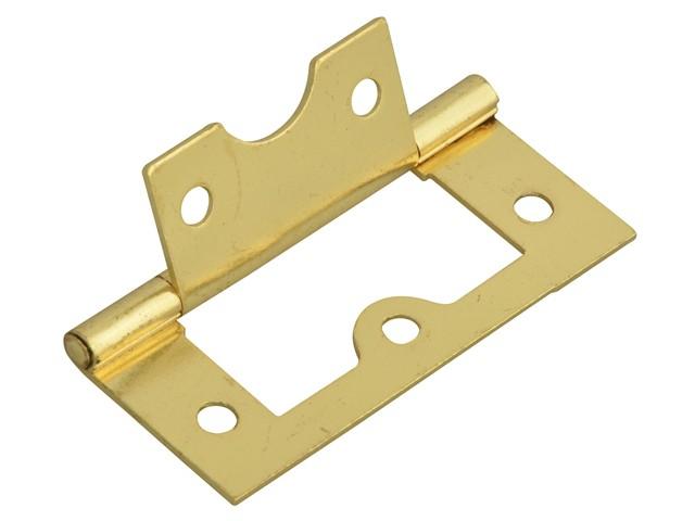 Flush Hinge Brass Finish 60mm (2.5in)Pack of 2