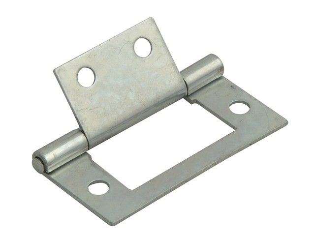 Flush Hinge Zinc Plated 40mm (1.5in) Pack of 2