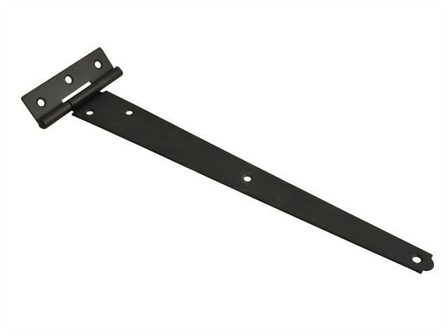 Tee Hinge Black Powder Coated 300mm (12in) Pack of 2