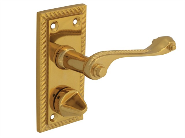 Backplate Handle Privacy - Georgian Brass 104mm