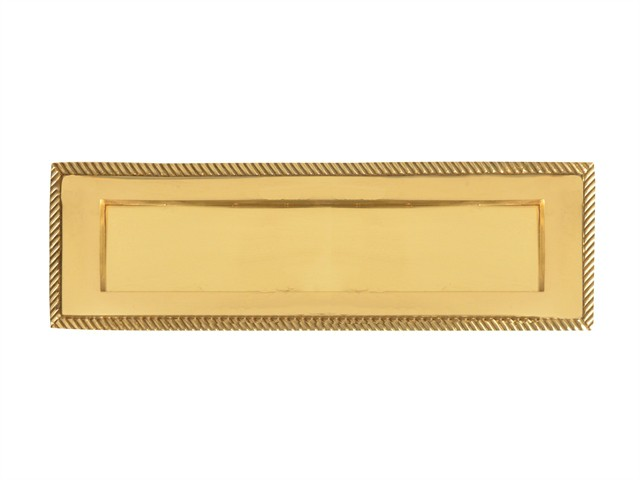 Georgian Brass Letter Plate 254mm