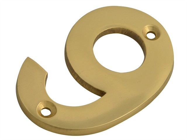 Numeral No.9 - Brass Finish 75mm (3in)