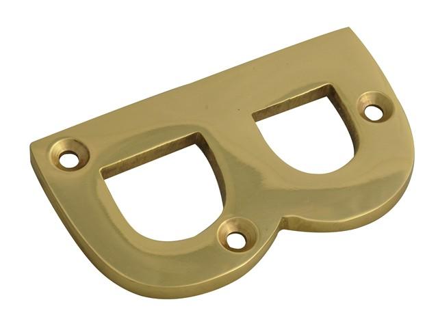 Letter B - Brass Finish 75mm (3in)