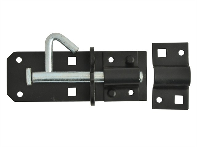 Padlock Bolt Black Powder Coated 100mm (4in)