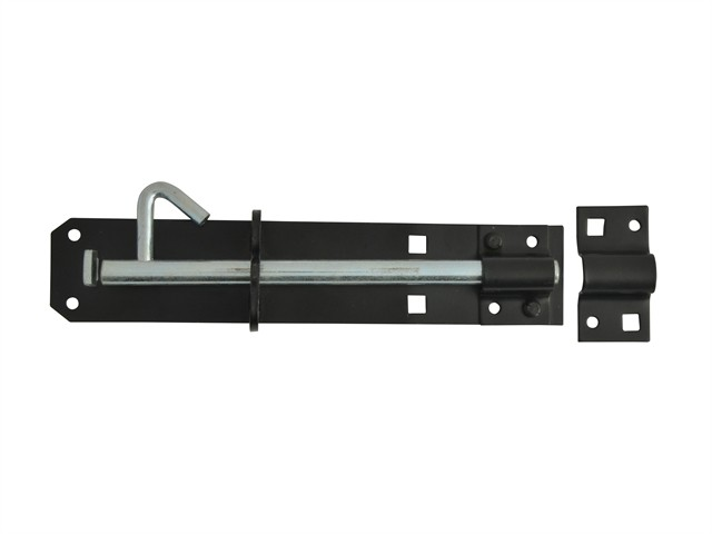 Padlock Bolt Black Powder Coated 200mm (8in)