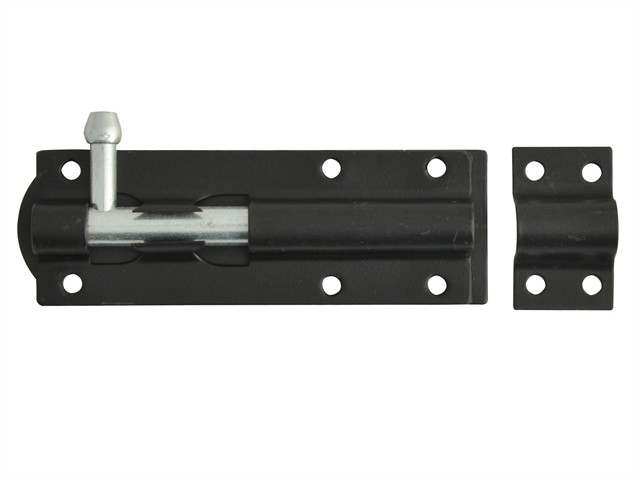Tower Bolts Black Powder Coated 100mm (4in)