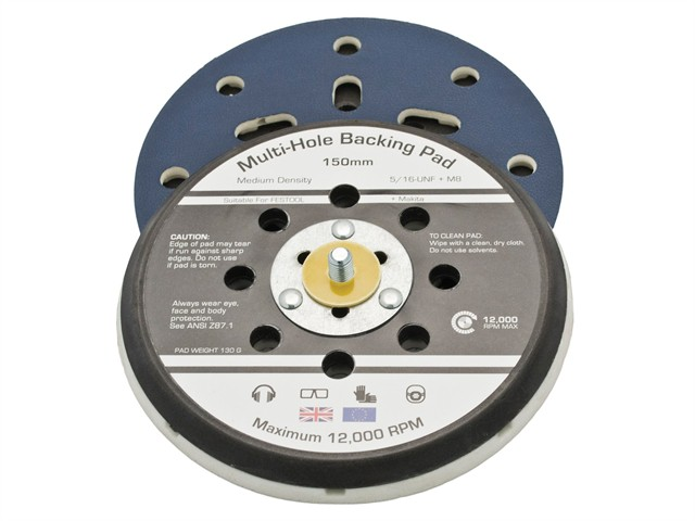 Dual Action Sander Pad 150mm PSA 8 Multi Holes 5/16 + M8 Festo & Makita