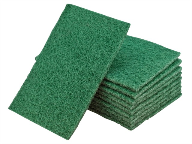 Hand Pads Green General Purpose 150 x 223mm (10)