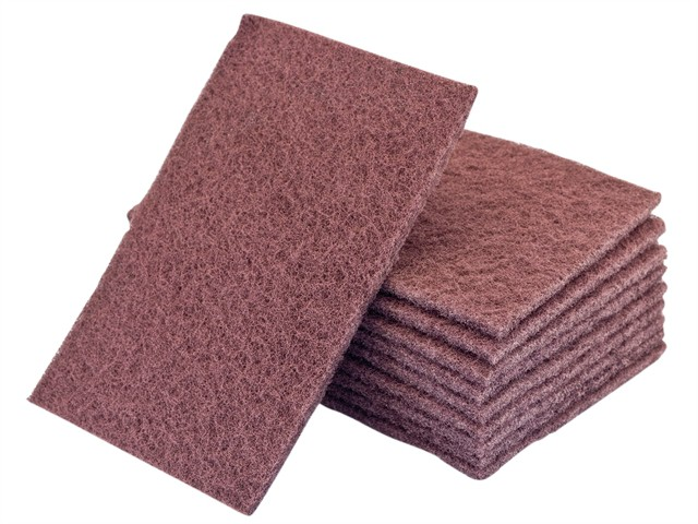Hand Pads Maroon Standard Very Fine 150 x 223mm (10)