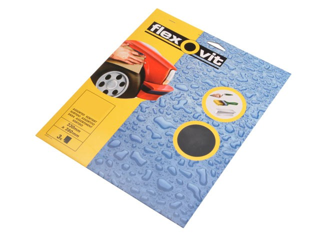 Waterproof Sanding Sheets 230 x 280mm Coarse 180g (3)
