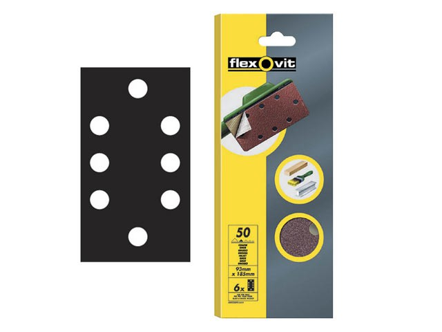 1/3 Sanding Sheets Quick Release Coarse Grit (Pack of 6)