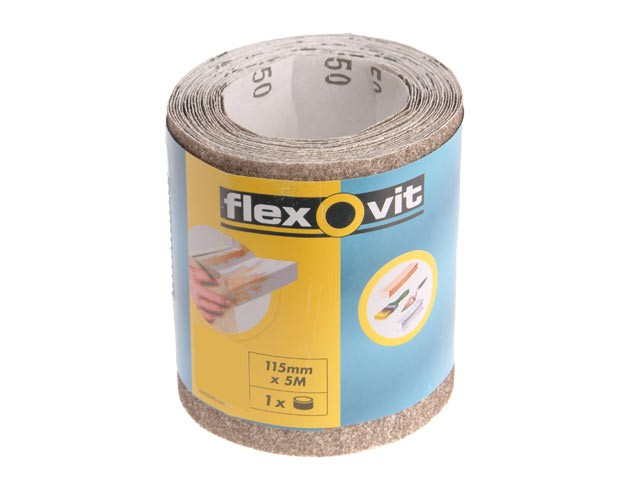 General Purpose Sanding Roll 115mm x 5m Extra Coarse 50g