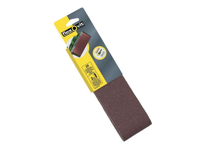 Cloth Sanding Belts 533 x 75mm 120g Fine (Pack of 2)