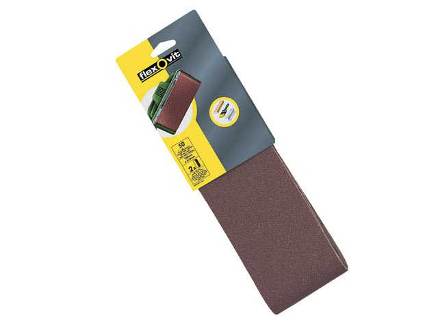 Cloth Sanding Belts 610 x 100mm 120g Fine (Pack of 2)