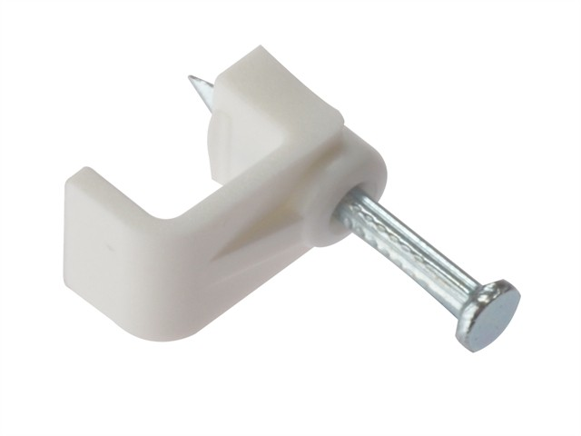 Cable Clip Flat White 2.50mm Box 100