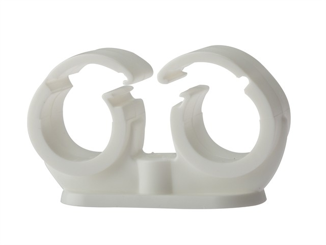 Pipe Clip Double Cliplock 28mm Box 50