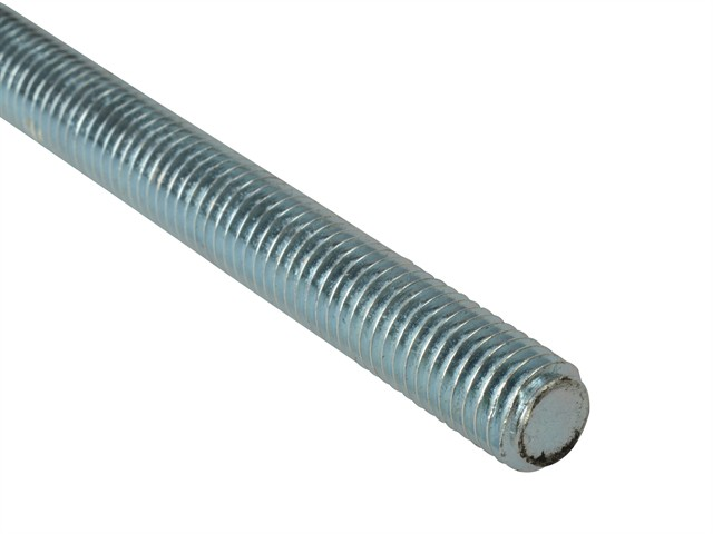 Threaded Rod Zinc Plated M10 x 1m Single