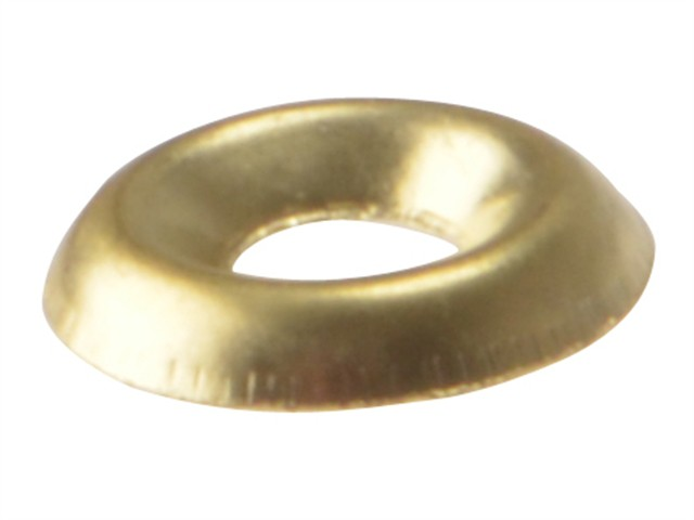 Screw Cup Washers Solid Brass Polished No.10 Bag 200