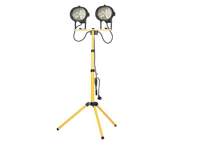 Twin Adjustable Tripod Site Light 1000W 240V