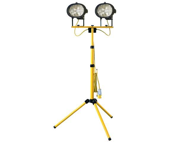Twin Adjustable Tripod Site Light 1000W 110V