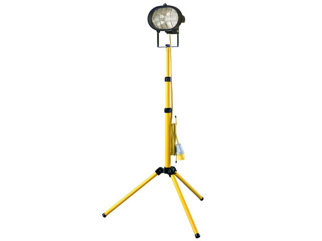 Single Tripod Site Light 500W 110V