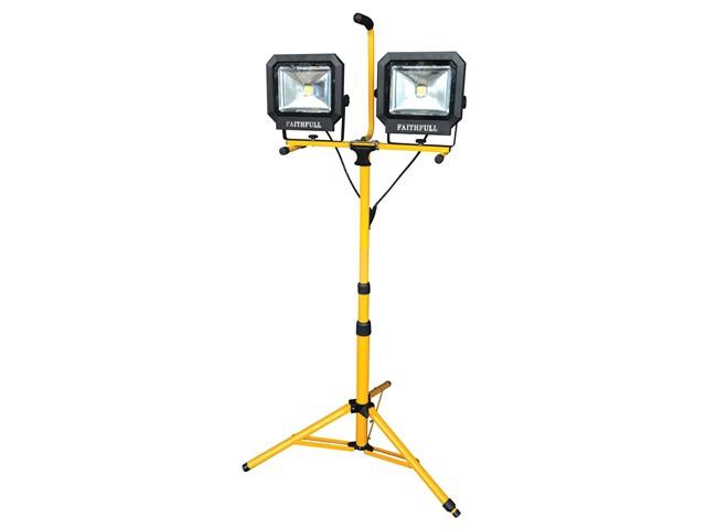 Site Light Twin Pod Tripod 60W 4200 Lumens 240V