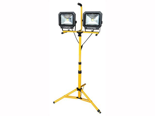 Site Light Twin Pod Tripod 60W 4200 Lumens 110V