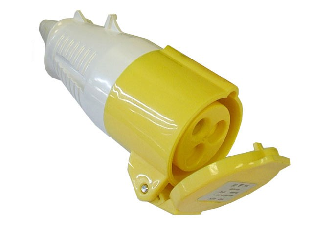 Yellow Socket 32 Amp 110 Volt