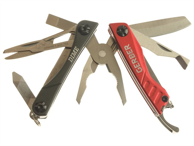 Dime Compact Multi-Tool Red (Blister Pack)