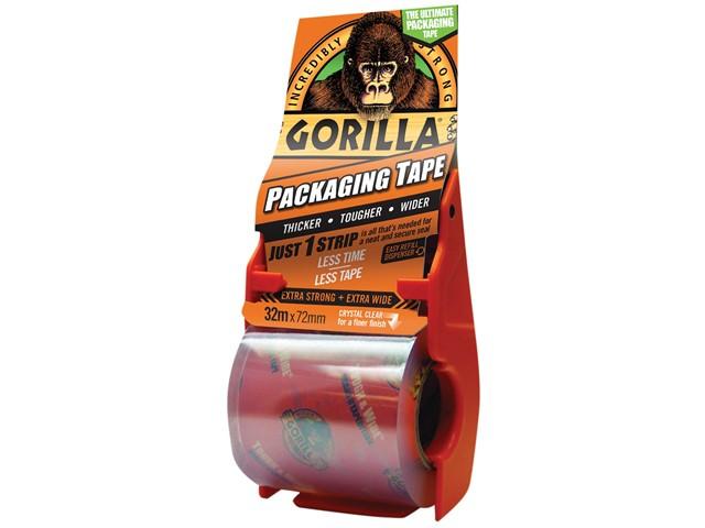 Gorilla Packaging Tape 72mm x 32m Dispenser