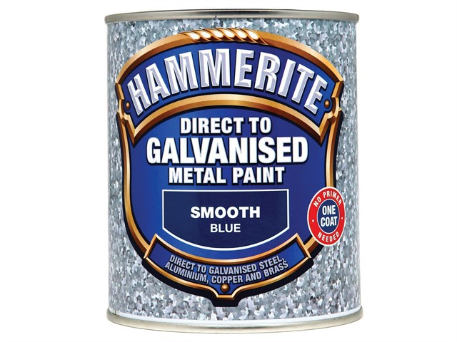 Direct to Galvanised Metal Paint Blue 750ml