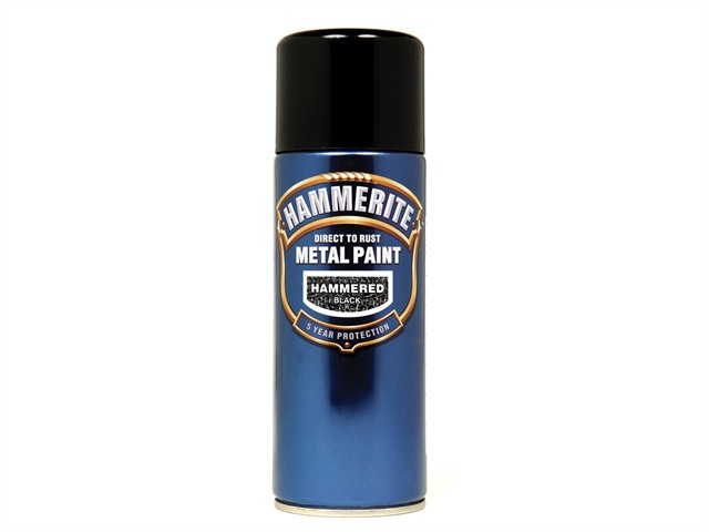 Direct to Rust Hammered Finish Aerosol Black 400ml