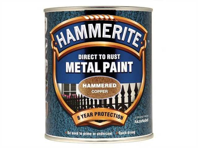 Direct to Rust Hammered Finish Metal Paint Copper 750ml