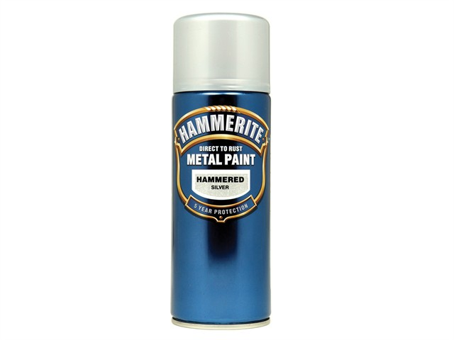 Direct to Rust Hammered Finish Aerosol Silver 400ml