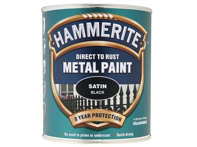Direct to Rust Satin Finish Metal Paint Black 750ml