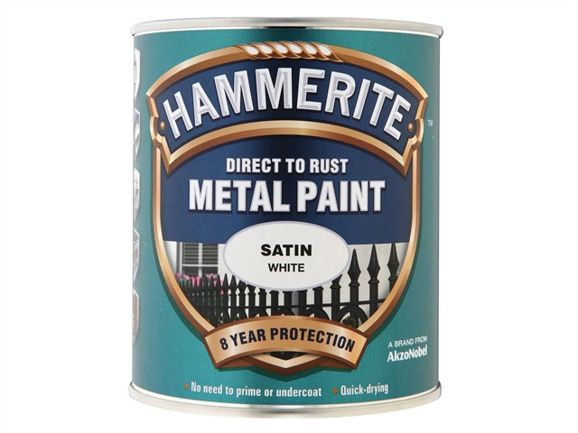 Direct to Rust Satin Finish Metal Paint White 750ml