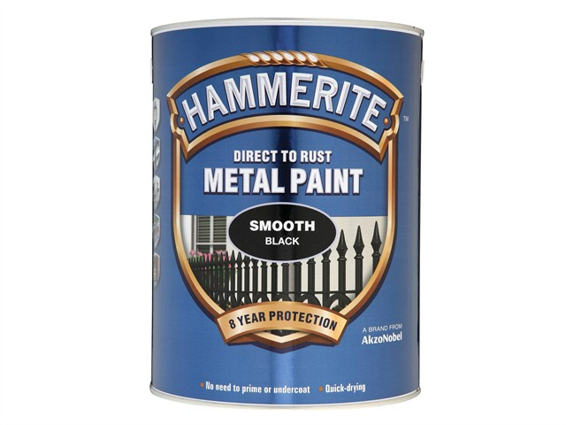 Direct to Rust Smooth Finish Metal Paint Black 5 Litre