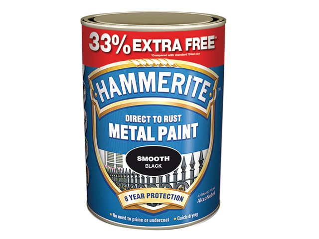 Direct to Rust Smooth Finish Metal Paint Black 750ml + 33%