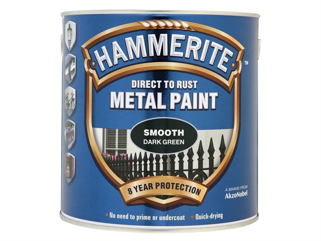 Direct to Rust Smooth Finish Metal Paint Dark Green 2.5 Litre