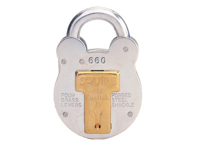 660 Old English Padlock with Steel Case 64mm