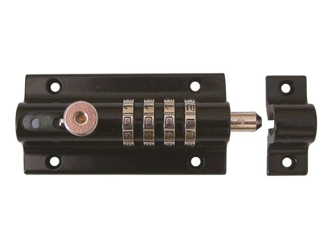 Combi 2 Re-Codeable Locking Bolt 120mm - Black