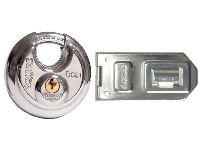 DCL1/DCH1C Disc Lock Plus Hasp & Staple
