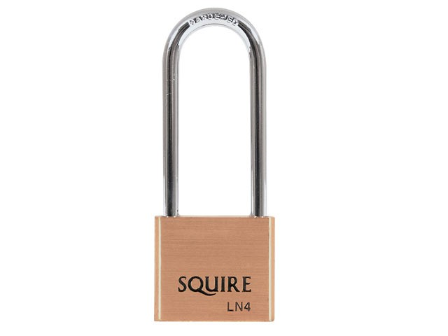 LN4LS Lion Brass Padlock 5-Pin 40mm - 65mm Long Shackle